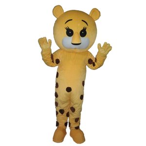 Yellow Spotted Tiger Mascot Costumes Cartoon Character Adult Sz 100% Real Picture