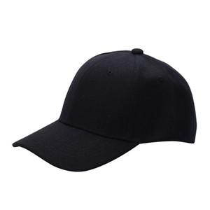 Gros- Haute Qualité Hommes / Femmes Plaine solide Couleur Casquette de baseball courbé Visor Hat Taille réglable