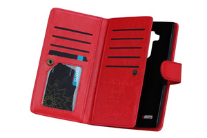 2in1 destacável magnética 9 carteira carteira de couro case para htc 10 m9 lg g3 g5 g5 galaxy j7 a8 1-5 pçs / lote