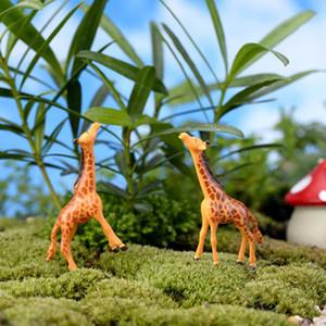 50 Adet Karikatür Sevimli Hayvan Zürafa Sika Geyik DIY Reçine Peri Bahçe Mini Zanaat Dekorasyon Minyatür Moss Mikro Gnome Teraryum Figürinler Dekor