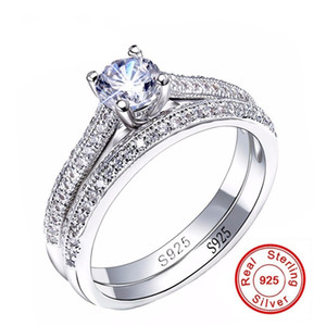 Anelli di fidanzamento SONA CZ Diamant Set 925 anelli in argento sterling per le donne Anelli di nozze fascia Promessa anello gioielli da sposa