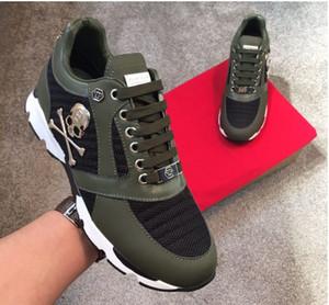 Los hombres de los zapatos casuales de alta calidad de los hombres del cráneo pp zapatos de cuero-0046 deportes de los hombres