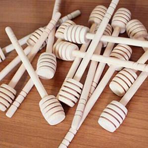 15cm Bois Honey Sticks Long mini Bâton de miel en bois DIPPER STEPT Bâtons de cuillère pour Jar Stick Bonne qualité