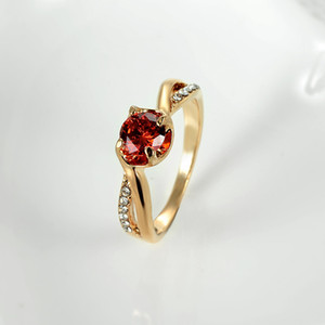 Factory Price Fashion Crystal Zircon Rings For Women Lady Girls Europe Creative Alloy Rings Gift Silver Rose Gold
