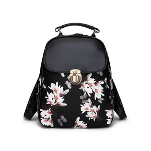 New fashion trendy ladies pretty butterfly pattern pu leather backpack bags girlfriends birthday gifts christmas gifts