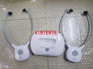 Artiste 1 transmisor 2 auriculares para APH100 Ancianos audífonos de TV auriculares Inalámbricos 2.4G HIFI TV audífono Auriculares de ayuda comercial