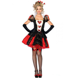 Kukucos Red Queen of Hearts robe cosplay femmes Déguisements adulte cosplay Halloween Party Dress Up Taille
