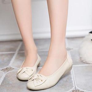 جديد ماركة النساء جلد طبيعي الأحذية المسطحة امرأة متعطل المرأة القوس الأحذية اليدوية الأمومة عارضة أحذية النساء الشقق دوغ حذاء
