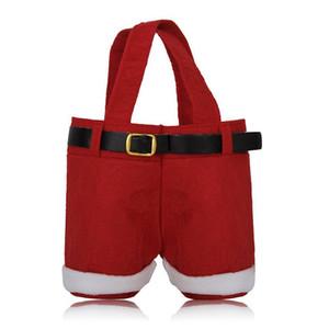 Regalo de Navidad Papá Noel estilo bolsos Bolsa de regalo de dulces navideños Bolsa de Navidad Regalo Bolsa de empaquetado de azúcar de Navidad Bolsas de franela