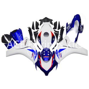 3 regalos gratis para Honda CBR1000RR 08 09 11 1000RR 2008 2009 2010 2011 Kit de Carenado Completo de Motocicleta de Inyección de Plástico ABS Blanco azul A22