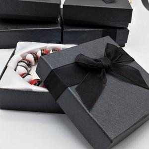 18pcs 패션 쥬얼리 팔찌 팔찌 시계 검은 종이 선물 상자 쥬얼리 보석 선물 상자