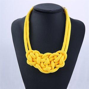 Vente chaude Handmake Noeud Chinois Collier Ras Du Cou Colliers Pendentifs Femmes Cadeau Kolye Bijoux De Mode Usine En Gros