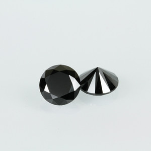 High Quality Machine Cut Black Color 3A Cubic Zirconia Big Size 7-20mm Round Synthetic Loos Stone For Jewelry Making 200pcs lot