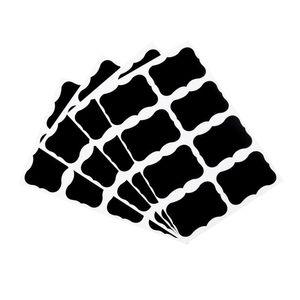 8PCS DIY adesivi lavagna nera Craft Kitchen Jar decalcomanie Lavagna Etichette 2016 Nuovo arrivo
