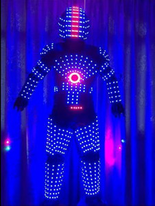 LED ROBOT COSTUME ROBOTS SUIT DJ TRAJE PARTY SHOW GLOW