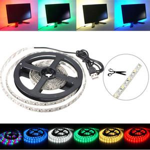 200cm 3528 120LED 9.6W USB Background Fita LED TV Iluminação IP65 Kit 5V DEL_01J