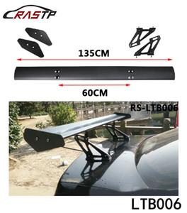 RASTP Universal Car Auto Spoilers Asas 135cm de alumínio leve de carro Spoiler GT Racing Asa de Suporte Suporte LS-LTB006