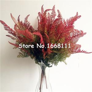 natürlicher aussehender Blattbündel künstliche grüne flexible Kleberanlage für Hochzeits-Mittelstücke dekorative grüne 7 Stiele pro Stück