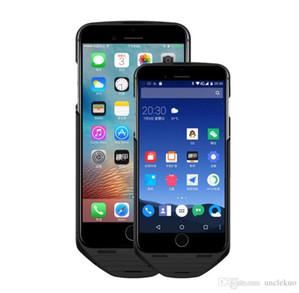 2016 date noir technologie MESUIT double veille GSM SIM iOS Android double système batterie cas d'alimentation pour iPhone 6 / 6S plus