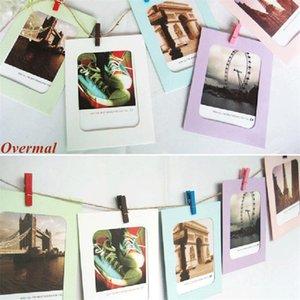 10 قطع إطار الصورة الساخن بيع overmal 5 6 7 بوصة الإبداعية هدية diy الجدار شنقا ورقة إطار الصورة الجدار ألبوم الصور بالجملة