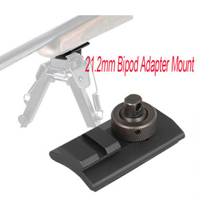 Paintball 라이플 사냥 슈팅 양방향 위버 레일 회전 스터드 Picatinny 슬롯 어댑터 21.2mm Bipod Adaptor Mount CL33-0209