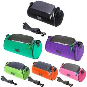 8 pulgadas 25cm de la venta caliente de ciclo impermeable bolsa de deporte 6 colores delantera de la bici del tubo Bolsas de bicicletas Pannier para el teléfono móvil y accesorios de bicicleta