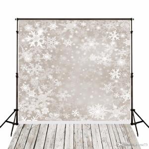 5x7ft الفينيل عيد الميلاد الأبيض الشتاء الثلوج التصوير استوديو خلفية خلفية