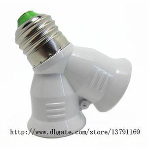 5pcs E27 Base Light Lamp Lampenfassung 1 bis 2 Y Form LED Bulb Base Splitter Adapter