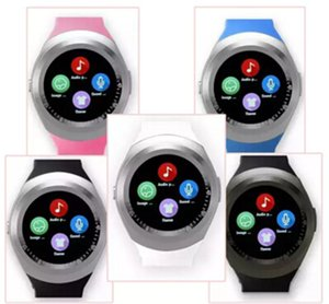 2017 New Y1 smart watches Latest Round Touch Screen Round Face Smartwatch Phone with SIM Card Slot smart watch for IOS Android