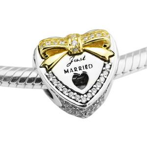 الاسترليني والفضة والمجوهرات الخرز لصنع المجوهرات diy صالح باندورا أساور BeRlOqUe الزفاف القلب 14K الذهب سحر بيرلاس KraLen