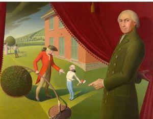 Grant Wood Parson Weems 'Fable Lienzo de alta calidad HD Print Art Paintings Múltiples tamaños para elegir berkin