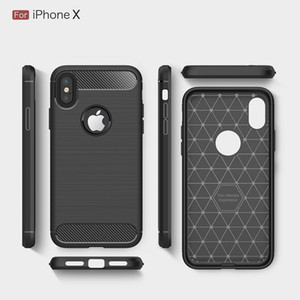 Free DHL Carbon Fiber Cases For iphoneX iphone8 heavy duty shockproof armor cover for iphone7 7Plus 6SPlus 5S 2017 hot sale