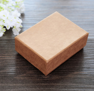 USA Kraft Paper Jewelry Boxes Fashion High-Grade Necklace Earrings rings boxes jewelry packaging display box Free Shipping