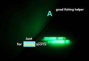 20 piezas de pesca nocturna luces flotantes luminosas varilla de pesca punta de cebo de alarma Oscuro resplandor palo accesorios de pesca pesca aparejos