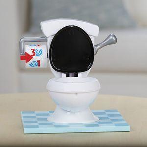 A spoof desktop TOILET PROBLEMSPIEL TOILET base Wir betrügen supertankverrücktes Toilettenspielzeug