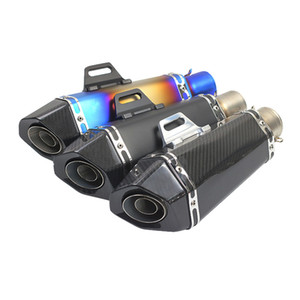Universal 36-51mm Modified AKRAPOVIC Motorcycle Exhaust Pipe Muffler For Yamaha FJR1300 BWs 125 FZ07 09 FZ1 FZ8 FZ6R MT09 MT07