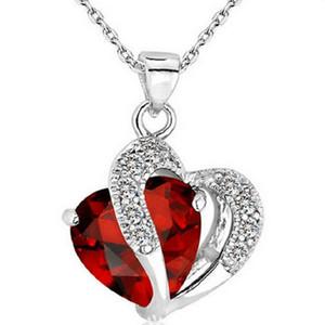 Gros romantique multicolore cristal amour coeur pendentifs bas prix colliers pour les femmes fille bijoux livraison gratuite