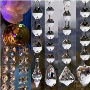 Nuevo diseño de cuentas de cristal acrílico hilo de guirnalda 14 mm cadenas de cuentas gota accesorios de boda centro de mesa cortina de árbol decoración colgante