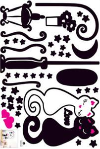 Wall Sticker il nuovo disegno del gatto del ragazzo dei capretti Bedroom Wallpaper Children Foto della decorazione della casa di arte della stanza della decorazione murale Corridoio PVC