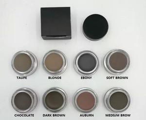 11 colores marca Long-last Pomade Medium Brown Maquillaje impermeable Ceja 4g Rubio Chocolate Marrón oscuro Ébano Castaño Medio Marrón TALPE