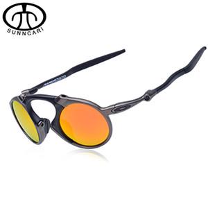 Al por mayor- SUNNCARI Hombres gafas de sol polarizadas aleación decoloración del marco Eyewear UV Proof gafas de sol de seguridad Optical Unisex gafas 6019