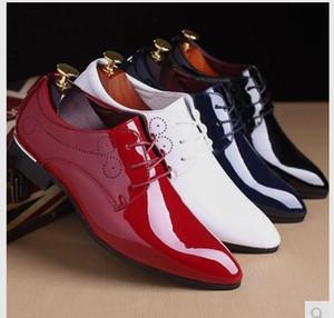2017 Горячий Новый яркая кожаная мужская обувь бизнес весной и летом платье Хан издание указал на шнуровке обувь стилиста
