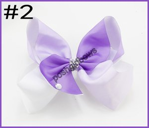 free shipping 2017 Newests 30pcs 8'' Large Ombre Signature hair bows Boutique big hair bows Girl ABC hair clips