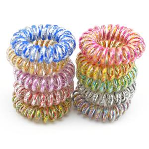 Pc del lotto 100 3.5CM accessori per capelli del legare di telefono Cavo linea corda dei capelli dell'anello dei capelli per le ragazze fascia