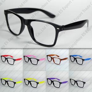 Nerd-Brillen-Rahmen keine Linsen-Plastikbrillen-schwarzer Rahmen-bunte Tempel mit Fabrik-Preis-Mischungs-Farben