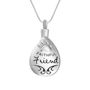 Кремация урна ожерелье верный собака / кошка Pet Лапа в сердце мемориал на память кулон воронка ювелирные изделия для золы