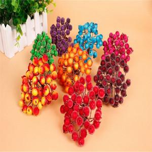 200 pcs / lot (400 têtes) Mini Fleur artificielle Stamen Millinery Red étamine fleurs pour la décoration de guirlande de noce