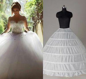 Top Quality Ball Gown 6 Hoops Sottoveste da sposa sottoveste Crinoline In Stock Sottogonna da sposa Strati Slip Skirt Crinoline Per Quinceanera Dress