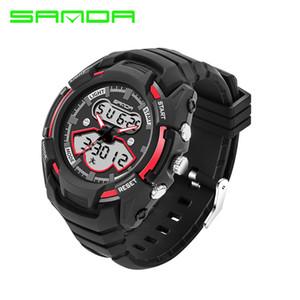 2017 SANDA 남자 스포츠 디지털 시계 더블 디스플레이 스포츠 방수 옥외 시계 저항하는 남자 시계 손목 시계 montrehomme