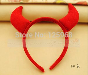 Headbands Presentes de Natal Atacado 10 pçs / lote 2014 New Hot Santa Hairbands Moda Dos Desenhos Animados Headwear Ox Horn